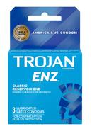Trojan Condom Enz Lubricated 3 Pack